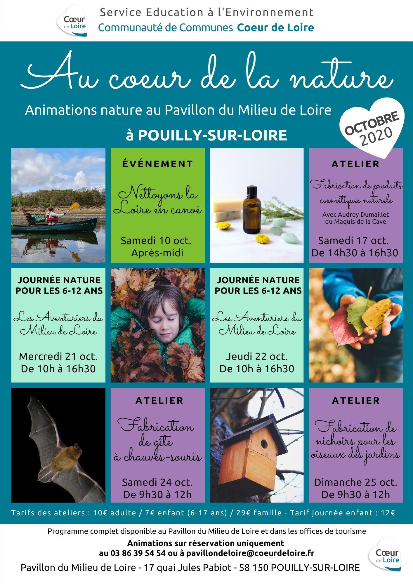 Animations du Pavillon du Milieu de Loire