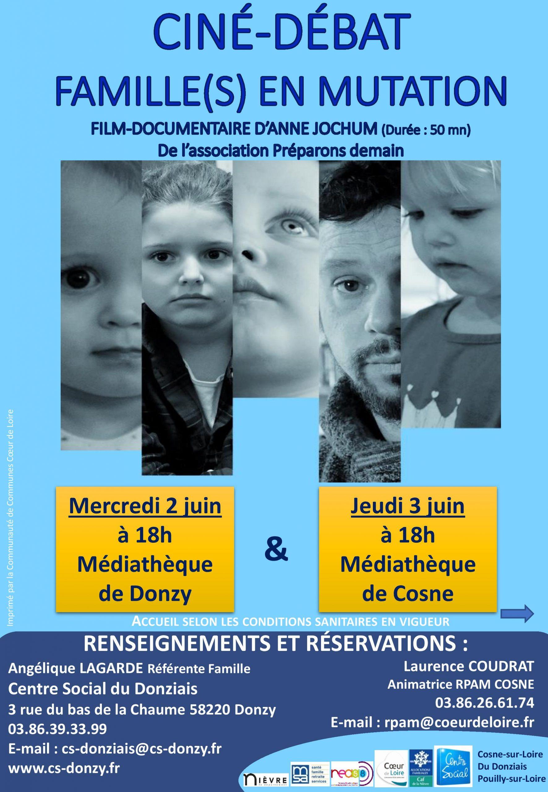 Ciné-Débat, Famille(s) en mutation