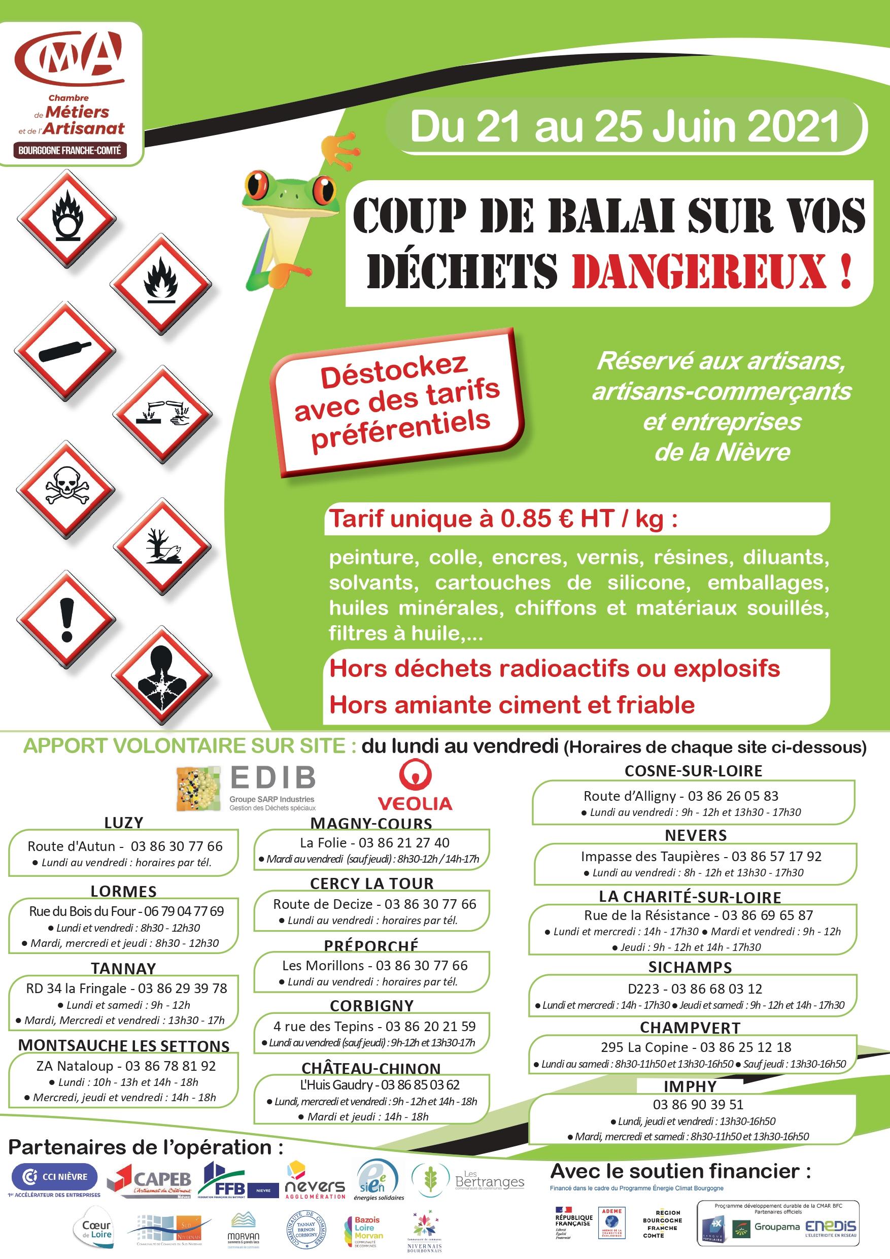 Opération Coup de Balais sur les Déchets Dangereux !
