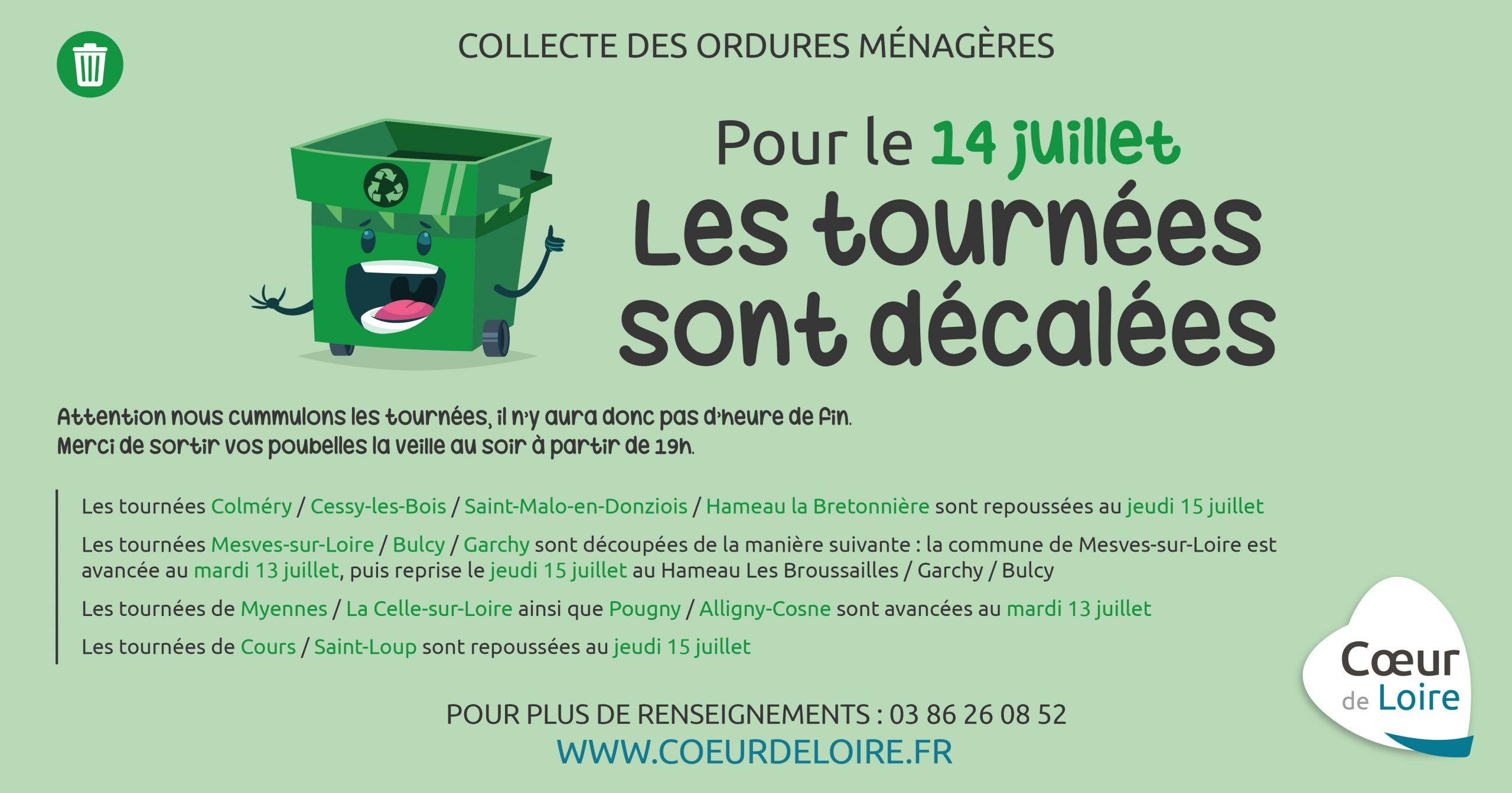14 juillet – Collecte des déchets ménagers