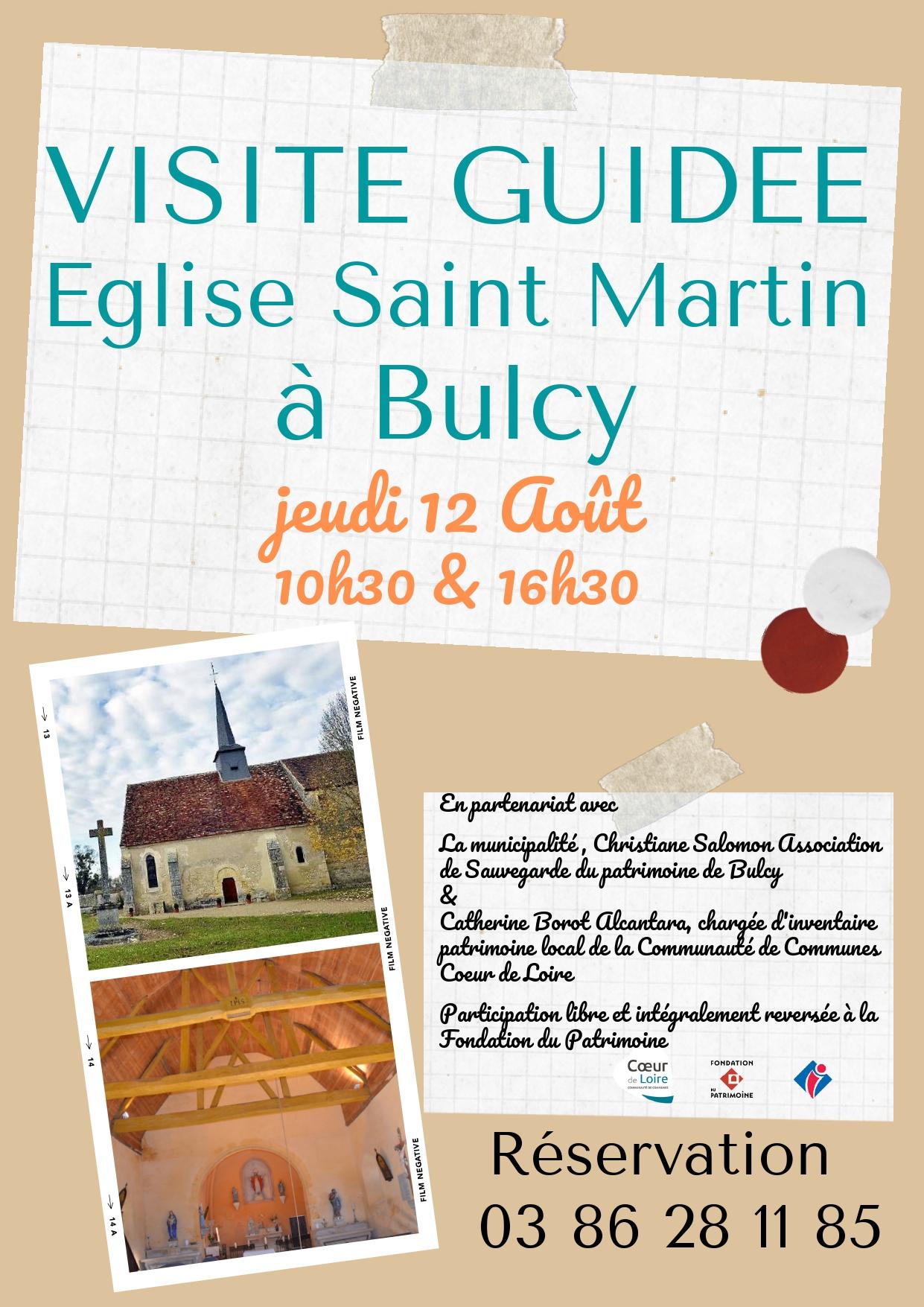 Visite guidée de l'église de Bulcy